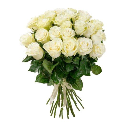 Лунный свет  -  21 белая роза: букеты цветов на заказ Flowwow