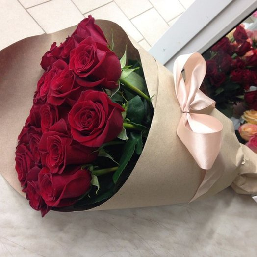 Bouquet of 15 roses.