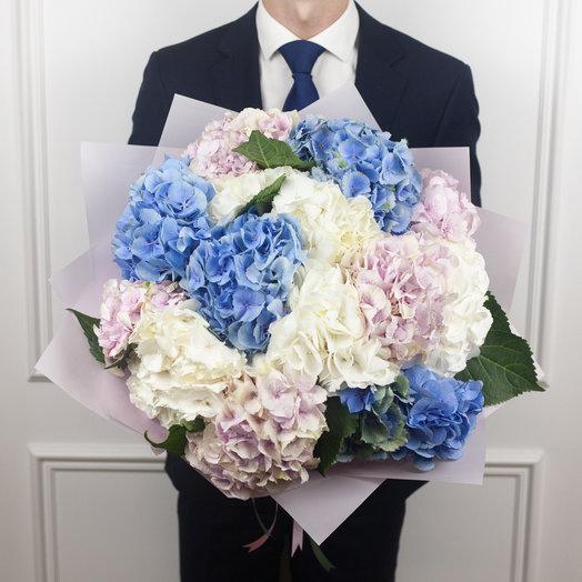 Букет микс из 15 гортензий: букеты цветов на заказ Flowwow
