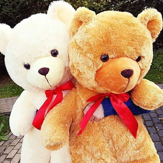 Two large Teddy bears 110cm: flowers to order Flowwow
