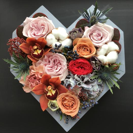 Сердечко ! : букеты цветов на заказ Flowwow