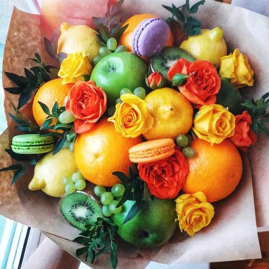 Фруктовый букет «яркий»: букеты цветов на заказ Flowwow