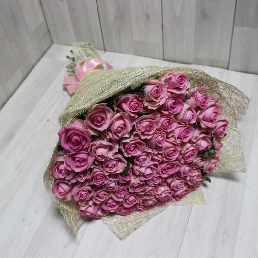 55 Розовая роза Ревиваль: букеты цветов на заказ Flowwow