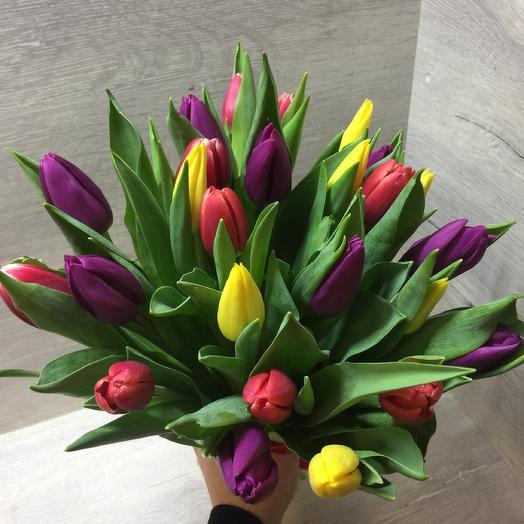 Букет тюльпанов 25шт: букеты цветов на заказ Flowwow