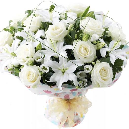 Сказочно-белый): букеты цветов на заказ Flowwow