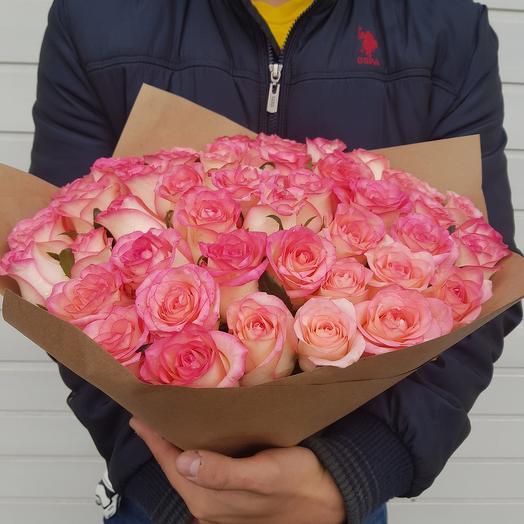 Букет из 51 розы (50 см.): букеты цветов на заказ Flowwow