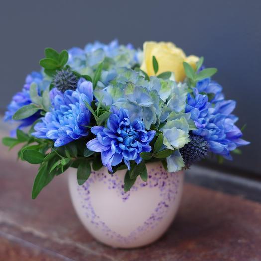 Мини blue: букеты цветов на заказ Flowwow