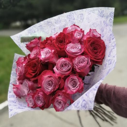 """Букет из сиреневой розы """"Дипп Перпл"""": букеты цветов на заказ Flowwow"""