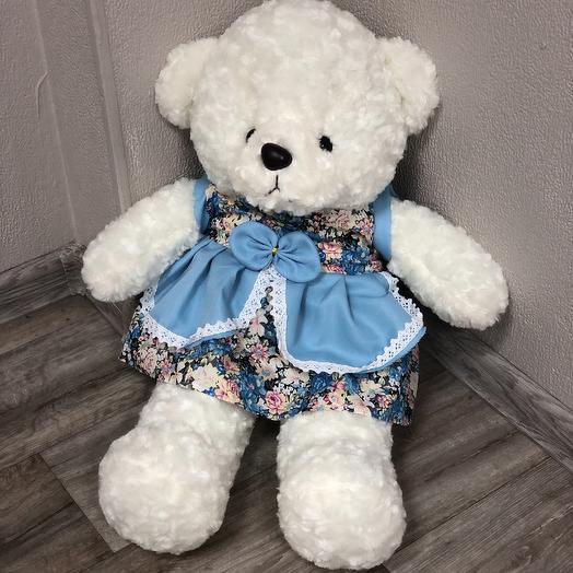 Плюшевый кружевной медведь: букеты цветов на заказ Flowwow