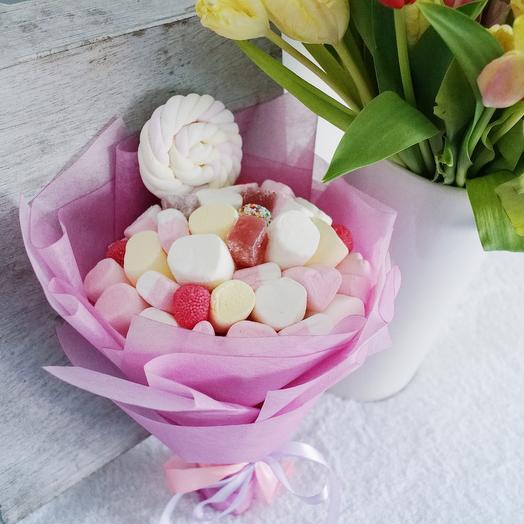 Букет из маршмеллоу мини: букеты цветов на заказ Flowwow