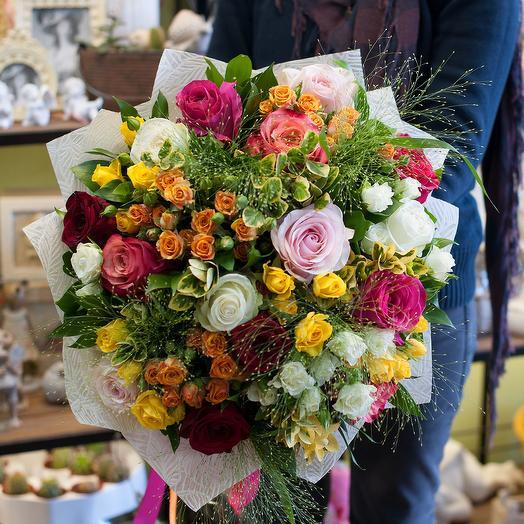 """Букет роз """"Полицвет"""": букеты цветов на заказ Flowwow"""