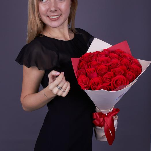 25 роз Нина, премиум класс. Эквадор: букеты цветов на заказ Flowwow