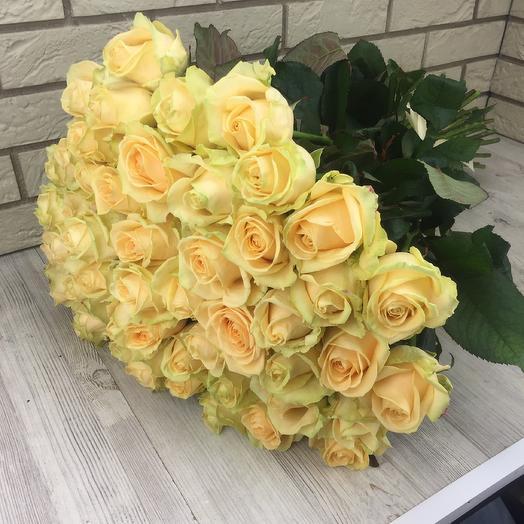 51 чайная роза: букеты цветов на заказ Flowwow