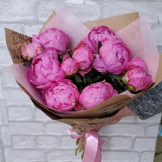 Пионы букет: букеты цветов на заказ Flowwow