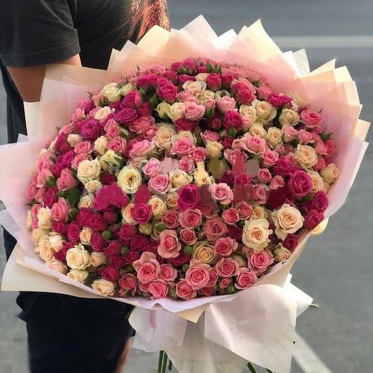 микс из кустовой розы