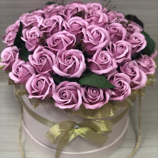Люкс-букет пудровых роз