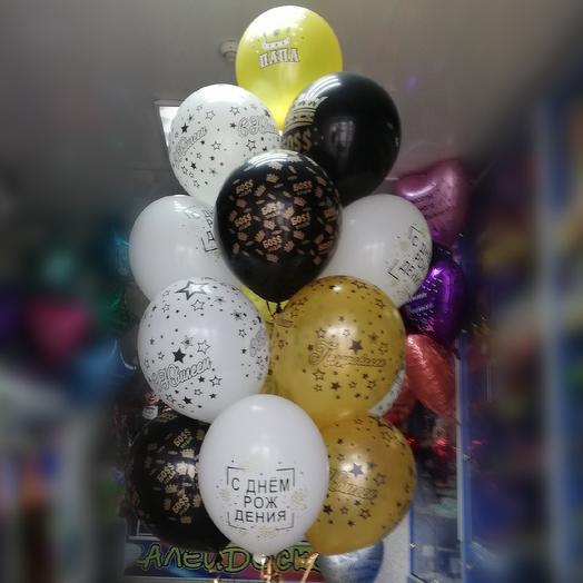 Фонтан из гелиевых шаров на юбилей для Папы: букеты цветов на заказ Flowwow