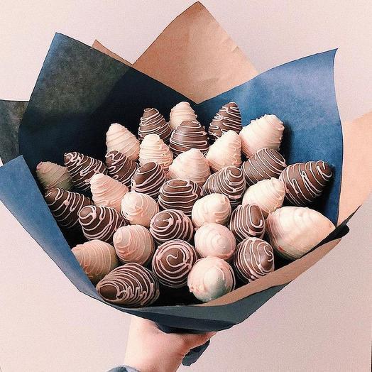 Букет из клубники в шоколаде «Бархат»