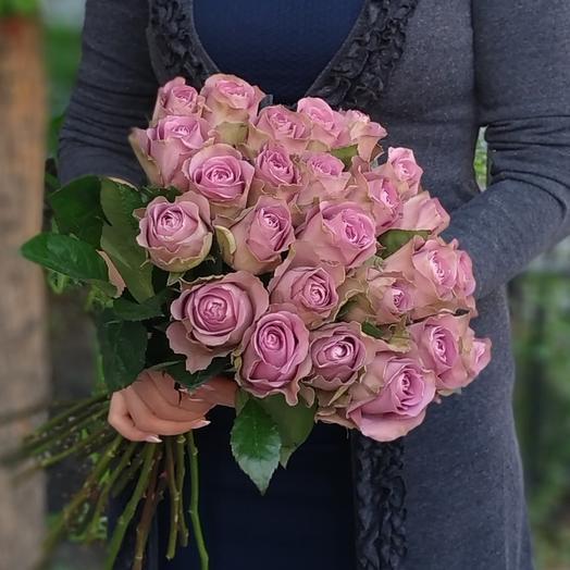 Престиж 🌸 Сиреневые розы: букеты цветов на заказ Flowwow