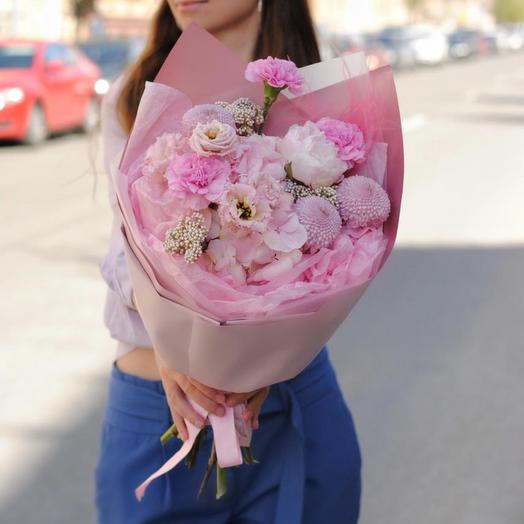Букет «Розовые мечты», размер S
