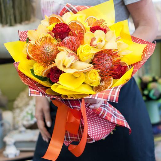 """Букет цветов """"Сицилийский апельсин"""""""