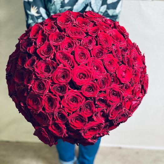 Букет из 101 розы - Премиум