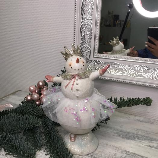 Снеговик балерина 3
