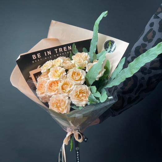 Монобукет из роз «Комплимент»