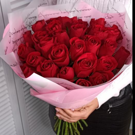 Букет из 27 красных роз премиум