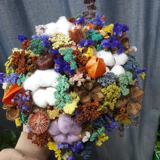 Сухоцветы на срезе