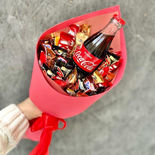 Букет из конфет и колы