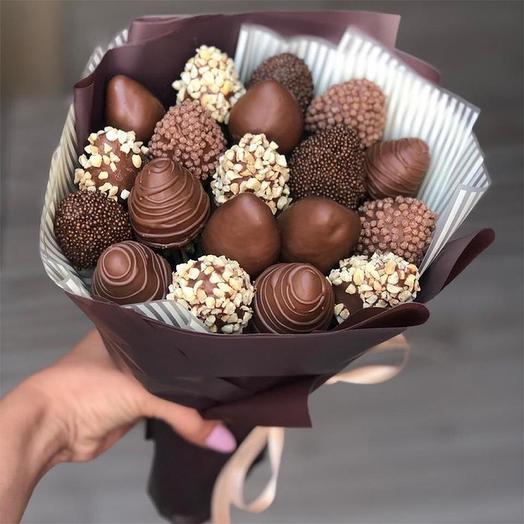 Букет из клубники в Шоколаде Чоко