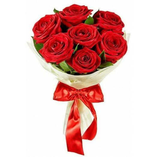 Букет из семи красных роз