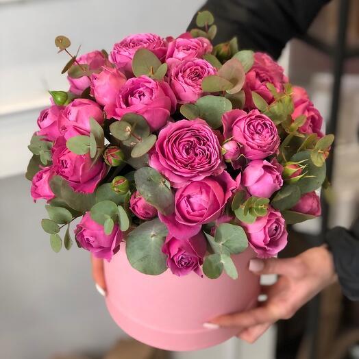Цветы в коробке Мисти баблс