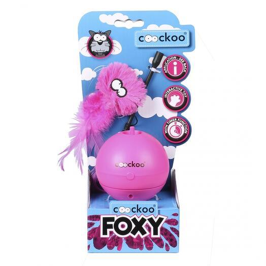 Игрушка для кошек интерактивная Foxy розовая