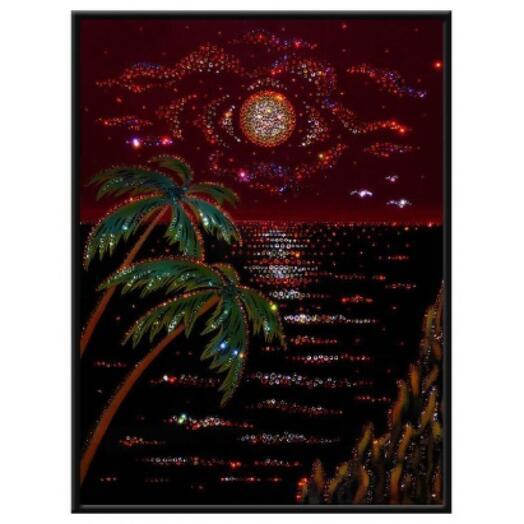 "Картина с кристаллами Swarovski ""Карибский вечер"""