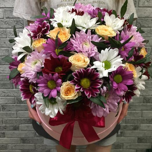 Цветы в коробке 064321