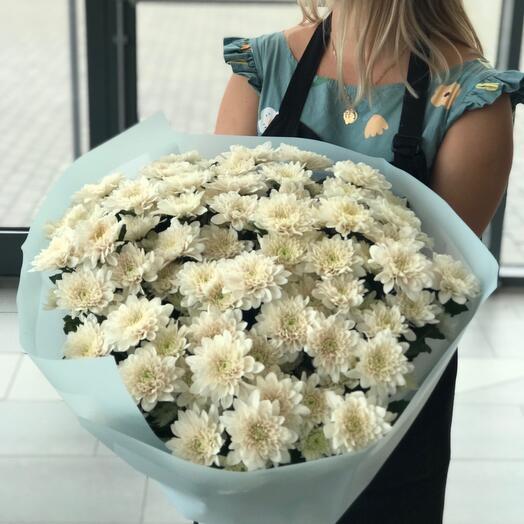 Букет из кустовых хризантем ( может быть микс, может быть одного цвета)