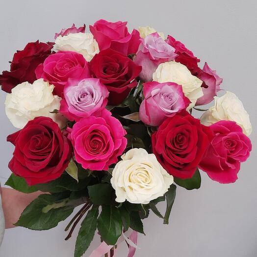 21 роза под ленту
