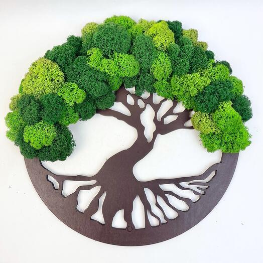 4 Дерево жизни зелёное 30 см