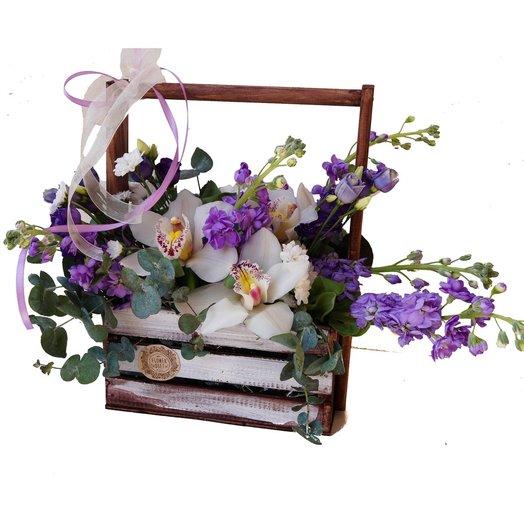 Фиолетовое счастье: букеты цветов на заказ Flowwow