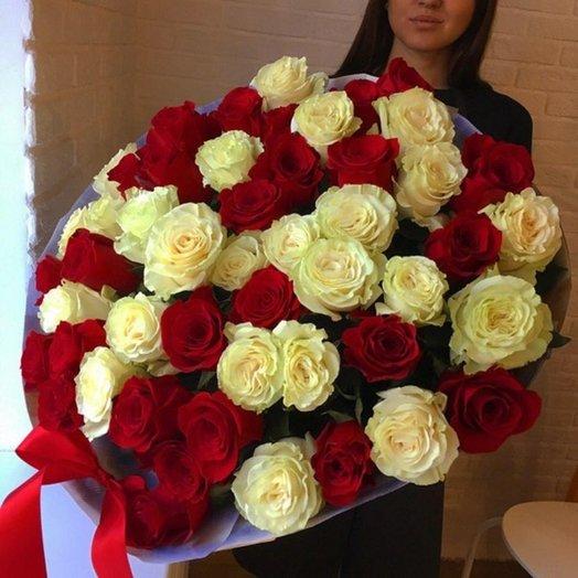 51 Эквадорская роза 60 см.: букеты цветов на заказ Flowwow