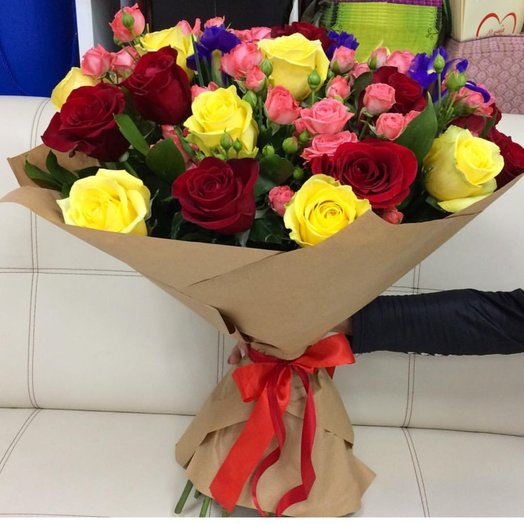 Букет Яркий Микс: букеты цветов на заказ Flowwow