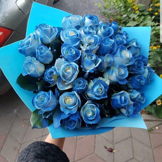 Букет синих роз