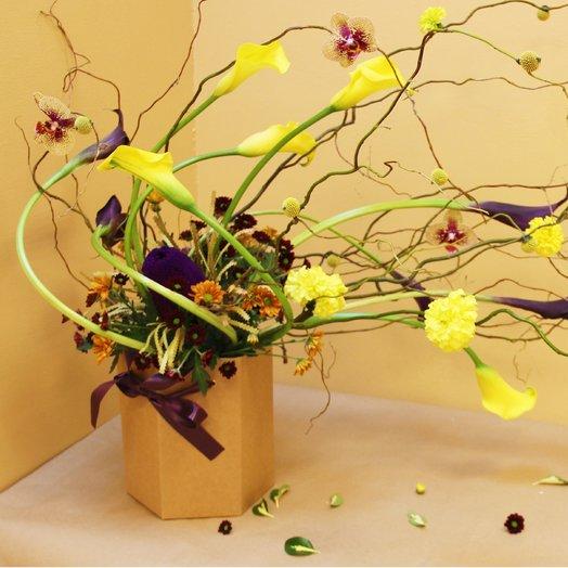 Цветочный ветер от Floristic World. из орхидеи и калл : букеты цветов на заказ Flowwow