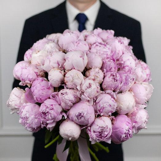 Букет из 49 розовых пионов: букеты цветов на заказ Flowwow