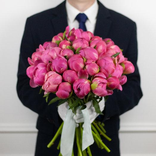 Букет из 39 французских пионов Coral: букеты цветов на заказ Flowwow