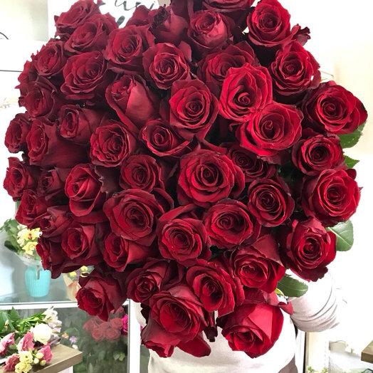 Букет из 51 розы.: букеты цветов на заказ Flowwow