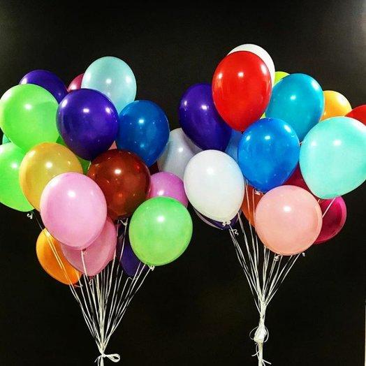 """Воздушные шары 50 штук """"Радужное безумие"""""""