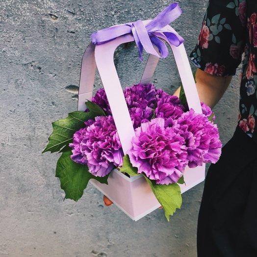 """Коробочка """"Лунная гвоздичка"""": букеты цветов на заказ Flowwow"""
